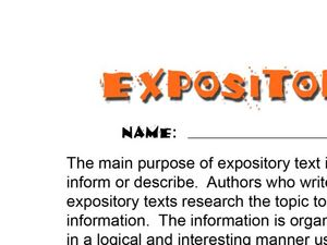 Help with Expository Writing?