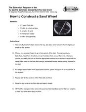 How to Construct a Sand Wheel Lesson Plan