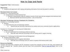 How to Copy and Paste Lesson Plan