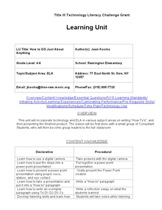How to DO Just About Anything Lesson Plan