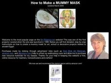 How to Make a Mummy Mask Lesson Plan