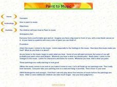 How to Paint to Music Lesson Plan