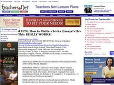 How to Write A+ Essays! Lesson Plan