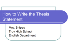 How To Write A Thesis Statement Effectively - Writing Savvy