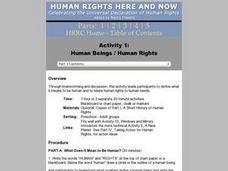Human Beings / Human Rights Lesson Plan