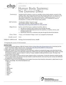 Human Body Systems: The Domino Effect Lesson Plan