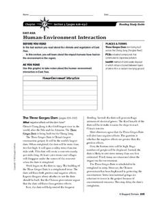 Human-Environment Interaction in East Asia Worksheet