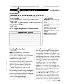 Human-Environment Interaction in Southwest Asia Worksheet