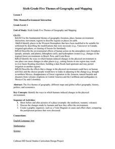 Human-Environment Interaction 7th - 8th Grade Worksheet | Lesson ...