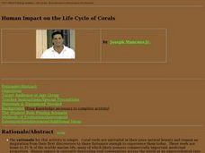 Human Impact on the Life Cycle of Corals Lesson Plan