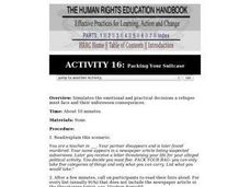 Human Rights Education Handbook: Packing Your Suitcase Lesson Plan