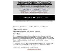 Human Rights Education Handbook: The Tool Box Lesson Plan