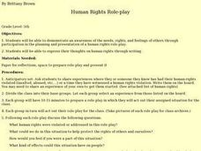Human Rights Role-play Lesson Plan