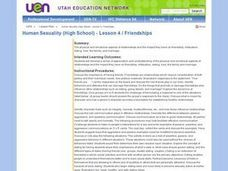 Human Sexuality (High School) - Lesson 4 / Friendships Lesson Plan