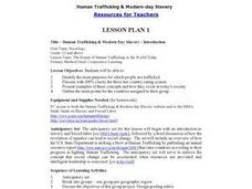 Human Trafficking & Modern Day Slavery - Introduction Lesson Plan