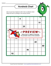 Hundreds Chart Worksheet