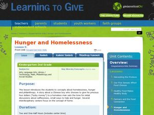 Hunger and Homelessness Lesson Plan