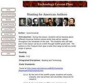 Hunting for American Authors Lesson Plan