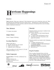 Hurricane Happenings Lesson Plan