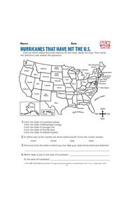 Hurricanes That Have Hit the U.S. Lesson Plan