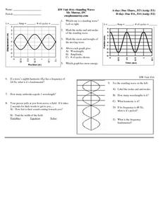 HW Unit 10:6-Standing Waves Worksheet