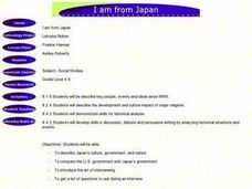 I Am From Japan Lesson Plan