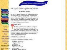 I C E ( Ice Cream Experiments) Lesson Lesson Plan