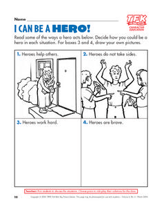 I Can Be A Hero! Lesson Plan