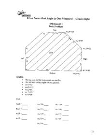 I Can Name That Angle in One Measure! Applications Worksheet