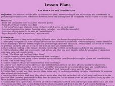 I Can Show Care and Consideration Lesson Plan