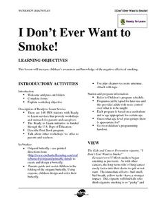 I Don't Ever Want to Smoke! Lesson Plan