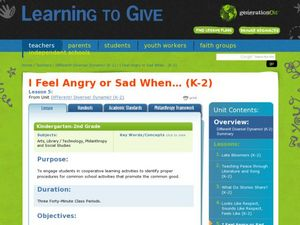 I Feel Angry or Sad When... Lesson Plan