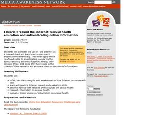 I Heard It 'Round the Internet: Sexual Health Education and Authenticating Online Information Lesson Plan