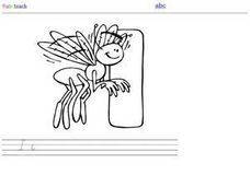 I Is for Insect:  DeNelian Printing Letter Ii Worksheet