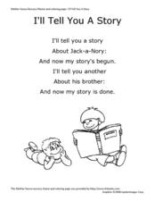 """I'll Tell You A Story"" Worksheet"