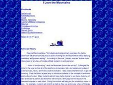 I Love the Mountains Lesson Plan
