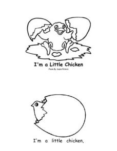 I'm a Little Chicken Worksheet