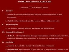 I'm Just a Bill Lesson Plan