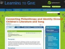 """I"" On Philanthropy Lesson Plan"