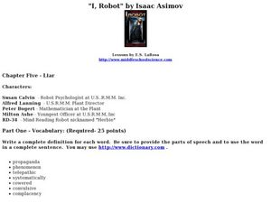 I, Robot by Isaac Asimov Lesson Plan