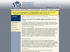 I Saw It on the 6 O'Clock News: Wisconsin Forest History Lesson Plan