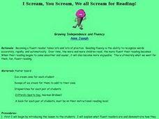 I Scream, You Scream, We all Scream for Reading! Lesson Plan