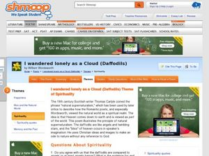 Bazinga moment essay I Wandered Lonely as a Cloud Analysis