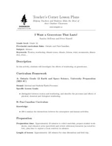 I Want a Gravestone That Lasts! Lesson Plan