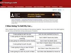 I Was Going to Sell My Car... Worksheet