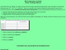 IB.8 Laboratory Activity-Water Testing (Micro) Lesson Plan