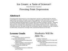 Ice Cream: a Taste of Science!! Lesson Plan