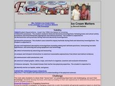 Ice Cream Matters Lesson Plan