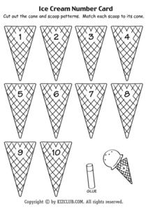 Ice Cream Number Card Lesson Plan