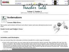 Icebreakers Lesson Plan